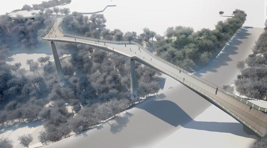 В столице построят новый велопешеходный мост