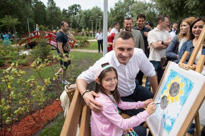 Столичный мэр продемонстрировал отремонтированный парк «Победа»
