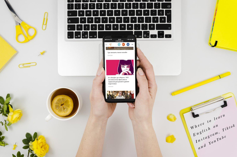 Где учить английский язык в Instagram, Tiktok и YouTube
